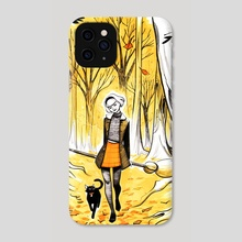 Sabrina in Autumn Woods - Phone Case by Veronica Fish