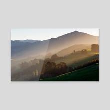 Summit Road - Acrylic by Moo Px