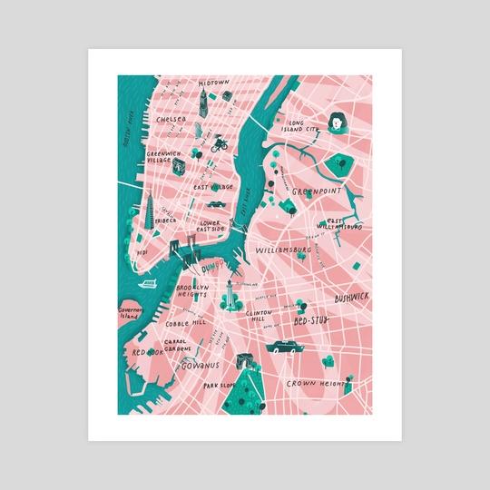 New York City Map by Tanya Shyika