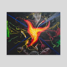 Break Through - Canvas by Blu Art Studios