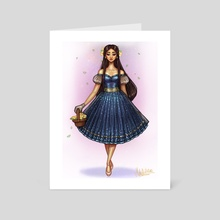 Dress & Flowers II - Art Card by Mida Illustrations