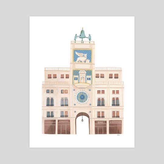 St Mark's Clocktower, Venice by Maryna Zarud