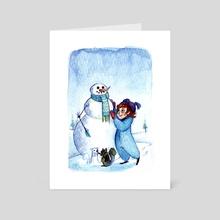 Winter Friends - Art Card by Chelsea Loren Edwards