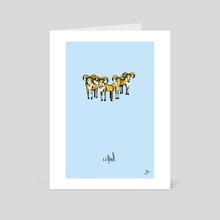 U) Herd of Urials - Art Card by Mal Jones