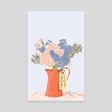Flowers With Love - Canvas by 83 Oranges