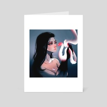 Ghost Snake - Art Card by STAMOS