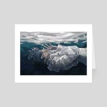 Blue&Grey - Art Card by bo kvfaerie