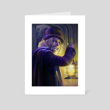 "Lon Chaney from ""London After Midnight"" (1927) - Art Card by David Robinson"