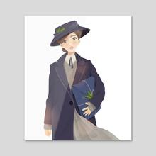 suffragette  - Acrylic by Ira Khroniuk