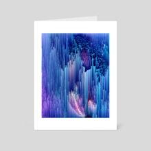 Beglitched Waterfall - Art Card by Jennifer Walsh