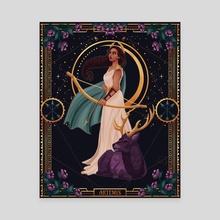 Artemis - Greek Goddess of the Hunt - Canvas by Chelsea Jade