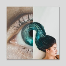 Hairst-eye-le - Acrylic by Monica Carvalho