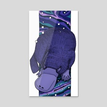 Sleepy Platypus - Acrylic by s.Jane Mills