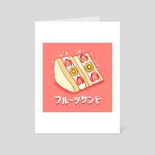 Fruit sando - Art Card by Casandra Ng