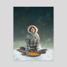 Winter Girl - Canvas by Antonio Caparo