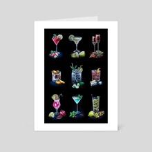 Classic Cocktails Season #3 - Art Card by Anna Suslina
