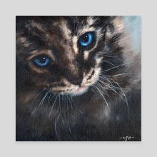Old Blue Eyes - Canvas by Chris Moult