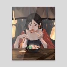 Hu - night market - Acrylic by Yingting