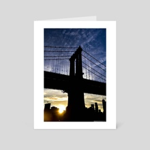 Manhattan Bridge - Art Card by Polyanna Isepan