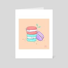 Macarons - Art Card by Teri Sky