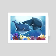Love into the Blue - Art Card by Giorgia Vallicelli