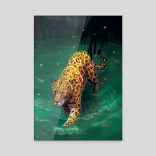 Jaguar Walking - Acrylic by Carissa Genovese