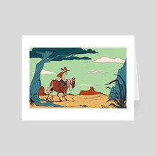 Desert Ride - Art Card by Anneliese Mak