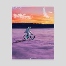 LONE MOMENT - Canvas by Bipin Koirala