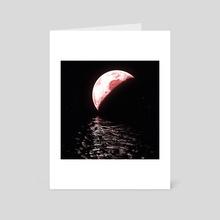 under moonlight - Art Card by Kristian Leov