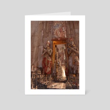 wonders the door to the luxor - Art Card by Te Hu