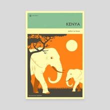 Kenya - Canvas by Jazzberry Blue