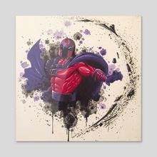 Magneto - Acrylic by andrew garza