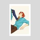 heel - Art Print by Kate Anthony