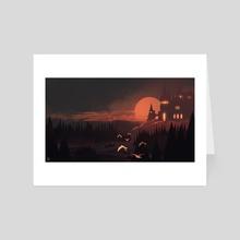 The Sunset Castle - Art Card by Luca Lisci