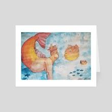 Mermaid Shenanigans - Art Card by Kallie Hunchman