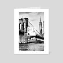 New York - Art Card by Alexandre Ibáñez