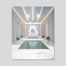 Indoor Flow - Acrylic by Logan Merrett