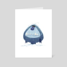 Grumpy Yeti - Art Card by Nikolas Ilic