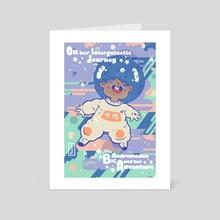 Little Andromeda - Art Card by Kesha St. Hilaire