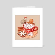 Christmas Chocolate - Art Card by Gourmet Galleria