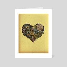 Tangled Heart - Art Card by Zanna Field