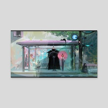 Bus Stop - Acrylic by Ross Tran