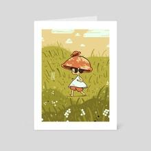 Mushroom Sprite - Art Card by Kesha St. Hilaire