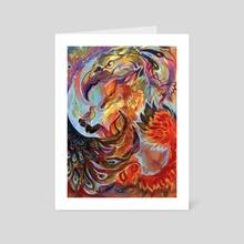 Bird Fox Bird - Art Card by Keryn Everett