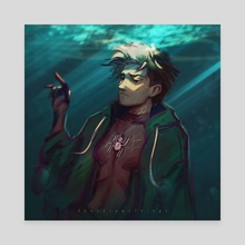 Drowning Hero  - Canvas by Roos Plattje