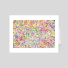 Candy Sprinkles All Over Impressionist Painting - Art Card by Bridget Garofalo