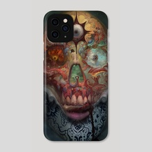 SKULL - Phone Case by Burton Gray