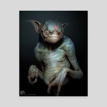 Alien Creature - Canvas by Ken Barthelmey