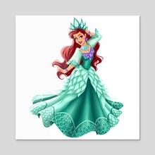Filipiniana Princess: Ariel - Acrylic by Greco Archibald