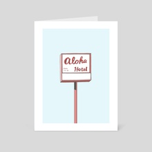 Aloha Hotel - Art Card by marrie green